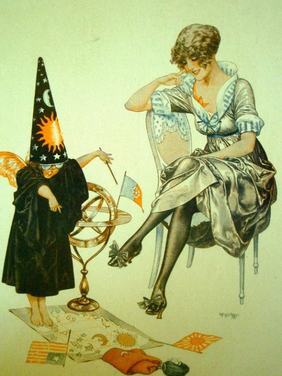 The Little Astrologer _ Chéri Hérouard  for La Vie Parisienne c.1917.jpg